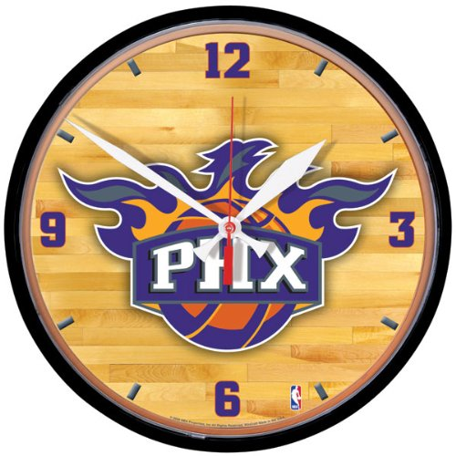 NBA Phoenix Suns Round Clock