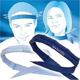 超冷感持続スカーフ MAGICOOL(マジクール)ネイビー DMCN01