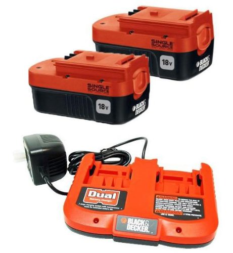 Black & Decker FS18SSB Battery 2-Pack and Dual Charger Combo # FS18SSB-2DC at Sears.com