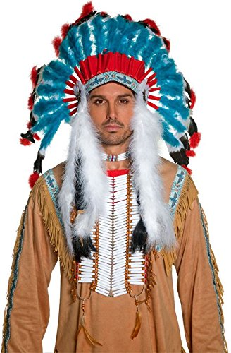 Western Authentic Indian Headress Adult