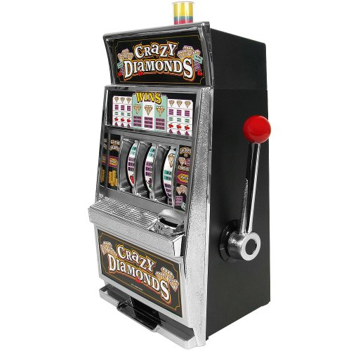 Trademark Global Crazy Diamonds Slot Machine Bank