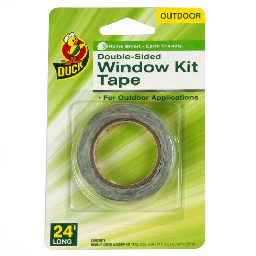 Duck Brand 1335145 Double-Sided Outdoor Replacement Tape for Window Kits, 0.5-Inch by 24-Feet, Single Roll