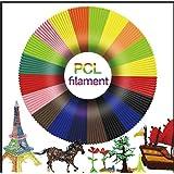 PCL Low Temperature 3D Pen Filament Refills,3D Pcl Filament 1.75mm 3D Pen Cartridge(12 Colors,16.4 Ft Each) (Color: Multicolored)