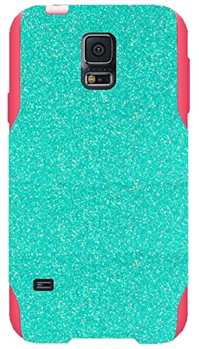 OtterBox Commuter Series Case for Galaxy S5 - Custom Glitter Case for Galaxy S5 -Wintermint/Pink (Custom Otterbox S5 compare prices)