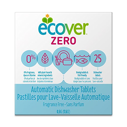 Ecover Automatic Dishwashing Tablets Zero, 25 Count, 17.6 Ounce (Nice Dishwasher Packs compare prices)