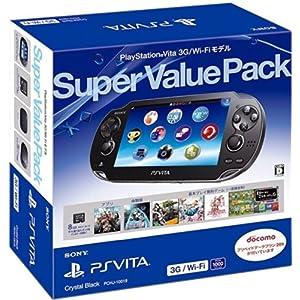 PlayStation Vita Super Value Pack 3G/Wi-Fiモデル クリスタル・ブラック
