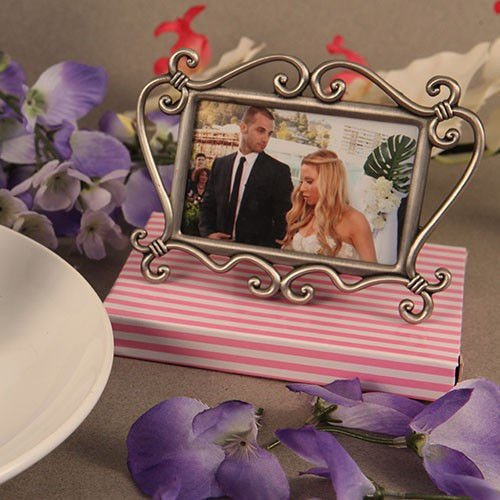 10 Metal Picture Place Card Frame With Pewter Finish Wedding Party Supplies front-1028754