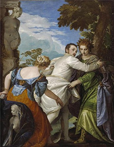 The High Quality Polyster Canvas Of Oil Painting 'Paolo Veronese - The Choice Between Virtue And Vice, C. 1580' ,size: 20x26 Inch / 51x66 Cm ,this Best Price Art Decorative Canvas Prints Is Fit For Basement Decor And Home Gallery Art And Gifts (Vice Vapor compare prices)
