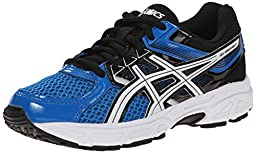 ASICS Gel Contend 3 GS Running Shoe (Little Kid/Big Kid), Electric Blue/White/Black, 5 M US Big Kid