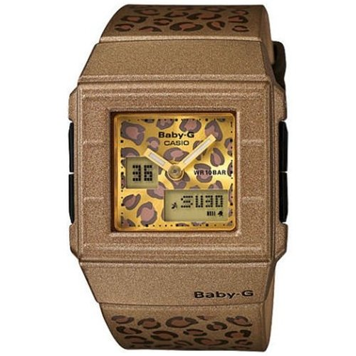 Casio Women's Baby-G BGA200LP-5E Brown Resin Quartz Watch with Brown Dial