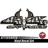4x4 Deer Skull Truck Decal Snow Camo Archery Hunting Treestand Sticker by Decals