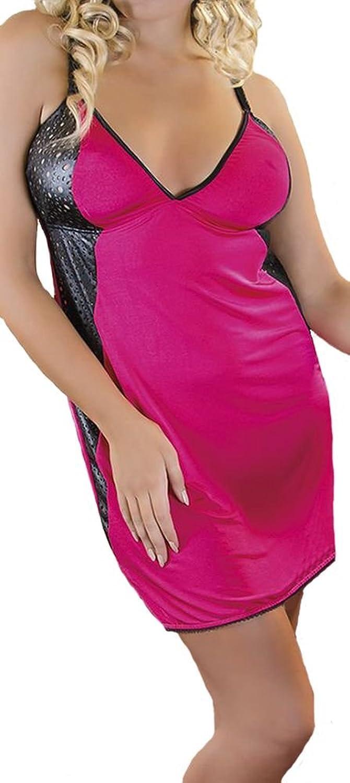 Unterkleid Unterrock Chemise M/1088 in pink/schwarz von Andalea jetzt bestellen