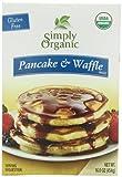 Simply Organic Pancake & Waffle Mix, Gluten Free, 16-Ounce Box