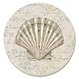 CounterArt Coastal Beauty Absorbent Coasters, Set Of 4