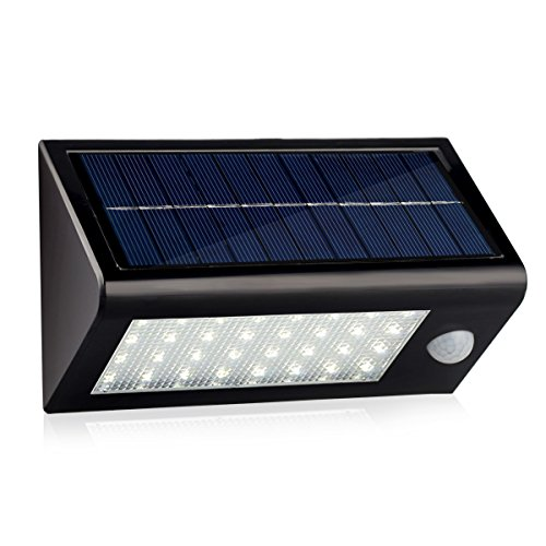 InnoGear MT-045 Waterproof Solar Light Motion Sensor Detector Wall Sconces (Black)