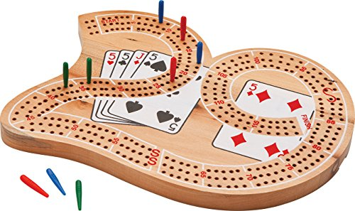Mainstreet Classics Wooden 29 Cribbage Board Game Set
