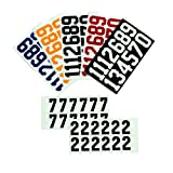 A & R Allied Enterprise, Inc. Hockey Helmet Number Stickers - Black