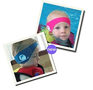 Konfidence Swimming Ear Bands / Headbands - Free moldable silicone ear plugs (Baby/Child/Adult Sizes)
