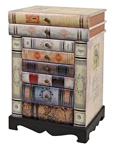 ts-ideen-Kommode-Bcherregal-Schrank-im-Vintage-Antik-Buch-Design-Nachttisch-Schubladen