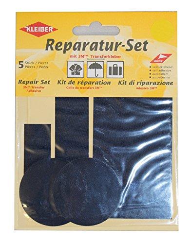 kleiber-5-piece-self-adhesive-nylon-clothing-repair-patch-set-dark-blue
