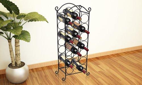 prabu ira casier vin 21 bouteilles m tal noir. Black Bedroom Furniture Sets. Home Design Ideas