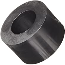 Round Spacer, Nylon, Black, 8mm Screw Size, 8mm OD, 4.3mm ID, 5mm Length, Made in US (Pack of 100)