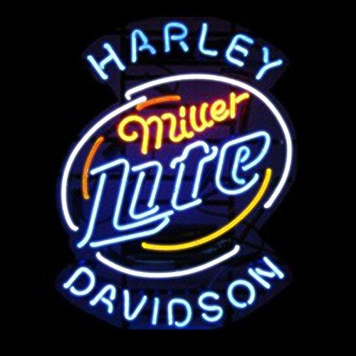 miller-lite-harley-davidson-handcrafted-real-glass-neon-light-sign19x15