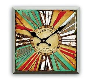 Reloj de pared diseno paris antiguo cuadrado 32 32cm reloj - Reloj cocina diseno ...