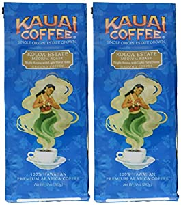 Kauai Coffee, Koloa Estate Medium Roast, Ground Coffee, 10oz Bag (Pack of 2) by Kauai Coffee