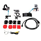 HappyGo Chest Strap+Flat Base+Curved Base with Stickers+Waterproof Housing Case Accessory+Video Cable for Hero 2+HDMI Cable for Hero 2+Wrist Strap for Gopro (Applicable daily kits 7 in 1)