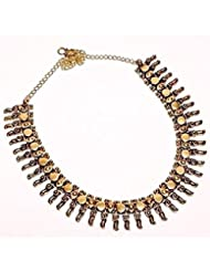 Jaipur Gems Yellow Necklace For Women - B01KZRWMH6