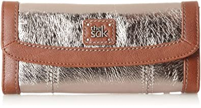 The SAK Iris Flap Wallet Trifold, Pyrite Metallic, One Size