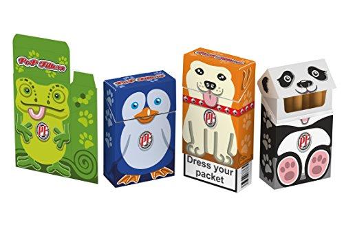 Portapacchetto sigarette in cartone,copripacchetto sigarette, kit 10 portapacchetti sigarette in cartone PopFilters, 10 porta pacchetti sigarette, copripacchetti, porta pacchetto sigarette in cartone