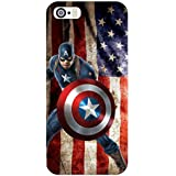 Clapcart Captain America Design Printed Mobile Back Cover Case For Apple IPhone 5 / 5S / 5 SE - Multicolor