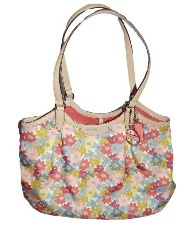 Coach   Coach Signature Stripe Floral Print Shoulder Bag (F28931)