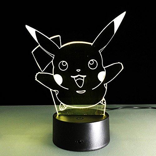 LED-3d-lmpara-Illusion-Pokemon-Go-Pikachu-lmpara-de-mesa-Cambio-de-color-Lectura-Luz-nocturna-regalo
