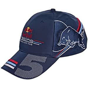 neues driver cap fahrer sebastian vettel red bull racing. Black Bedroom Furniture Sets. Home Design Ideas