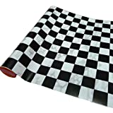 BestOfferBuy Black White Checker Removable PVC Self Adhesive Wall Contact Paper 5m 16ft