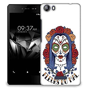 Snoogg Sacry Women Designer Protective Back Case Cover For MICROMAX E481