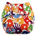 Swaddlebees Simplex One-SIze All-In-one (Messy Hands)