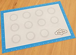 Silicone Baking Mat With Ruler | Professional German Grade and Certified FDA Safe | Reusable Non-Stick Surface | Half Sheet 16-1/2