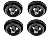 WALI-4-Pack-Dummy-Fake-Security-CCTV-Dome-Camera-with-Flashing-Red-LED-Light-with-Warning-Security-Alert-Sticker-Decals