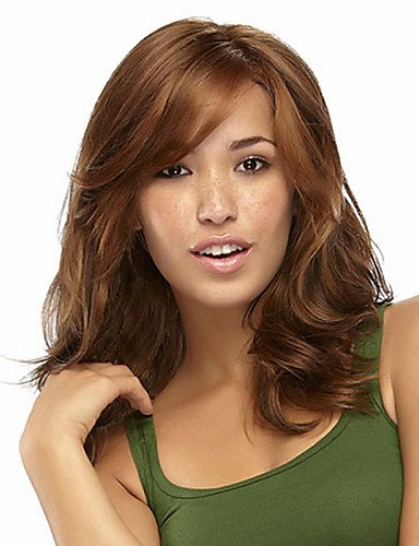 Wigs have an attractive convenience fashion European and American Fashion Must-Have Girl Brown Curly Hair Wig Quality
