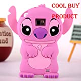 Cool Buy's Authentic PINK Lilo and Stitch 3D Soft Case Cover For Samsung Galaxy i9100 S II