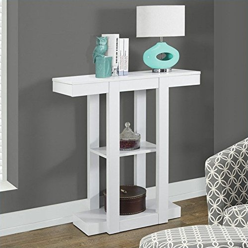 Monarch Specialties I 2455 White Hall Console Accent Table, 32