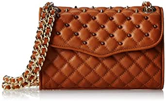 Rebecca Minkoff Mini Quilted Affair with Studs Cross-Body Handbag,Almond,One Size