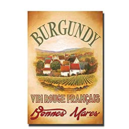 Burgundy by Val Bustamonte Premium Gallery-Wrapped Canvas Giclee Art (Ready to Hang)