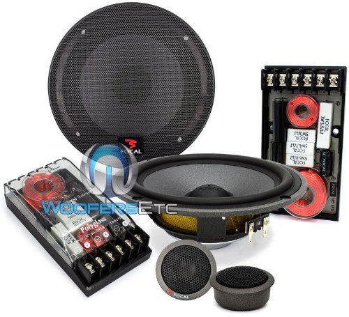 Focal Polyglass 165 Vrs 6.5-Inch 2-Way Shallow-Mount Component Speaker Kit