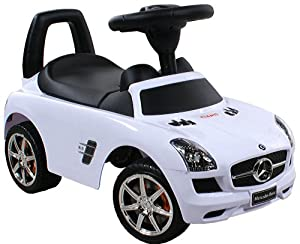jouets tirer trotteur porteur baby car arti mercedes sls amg 332 white blanc ride on. Black Bedroom Furniture Sets. Home Design Ideas