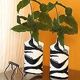 ExclusiveLane Terracotta Handpainted Vase With Warli Art-Vases Pots Artifical Pots Home Décor